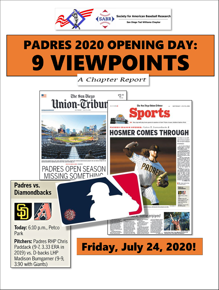 SABR San Diego Chapter: 2020 Opening Day Viewpoints