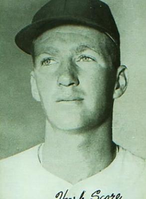 1950s Exhibit baseball card of Herb Score (COURTESY OF STEPHEN V. RICE)