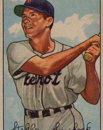"1952 Bowman baseball card of Stephen ""Bud"" Souchock"