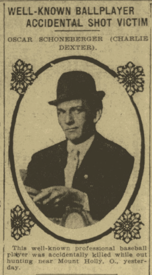 Charlie Dexter (Cincinnati Commercial Tribune, November 5, 1909:1.)