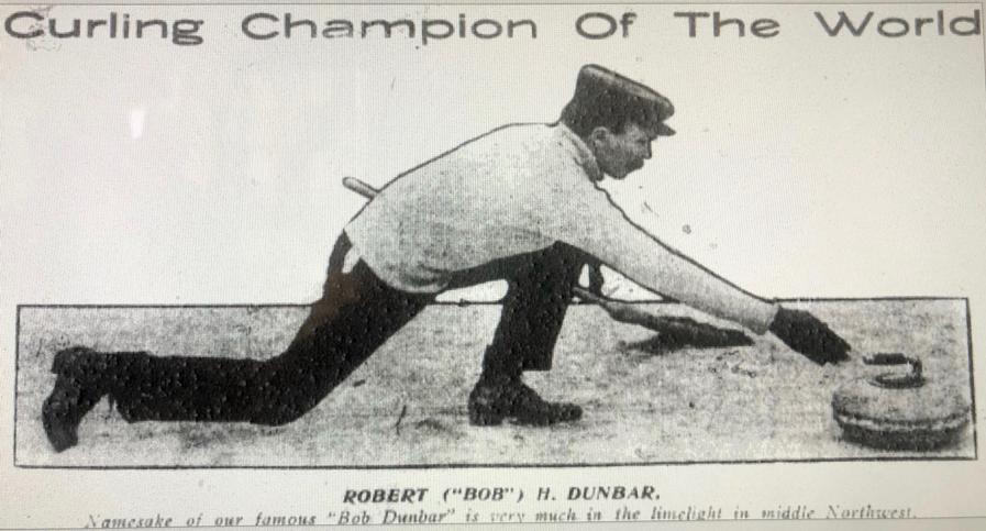 Robert Dunbar, curling champion