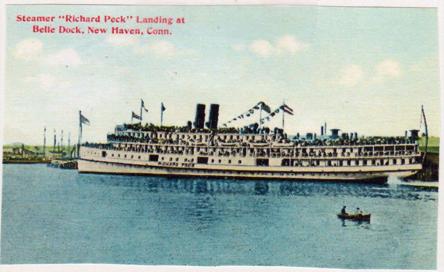 "A postcard of the ""Richard Peck"" steamship (COURTESY OF BILL LAMB)"