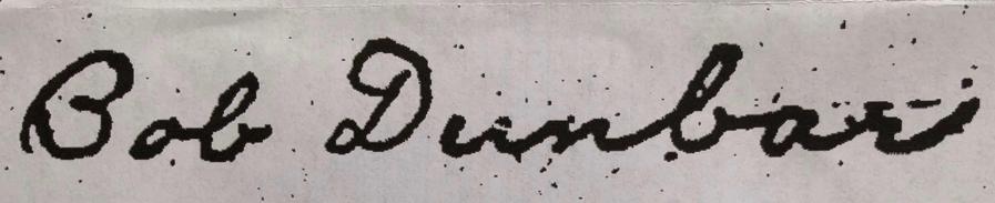 Bob Dunbar signature