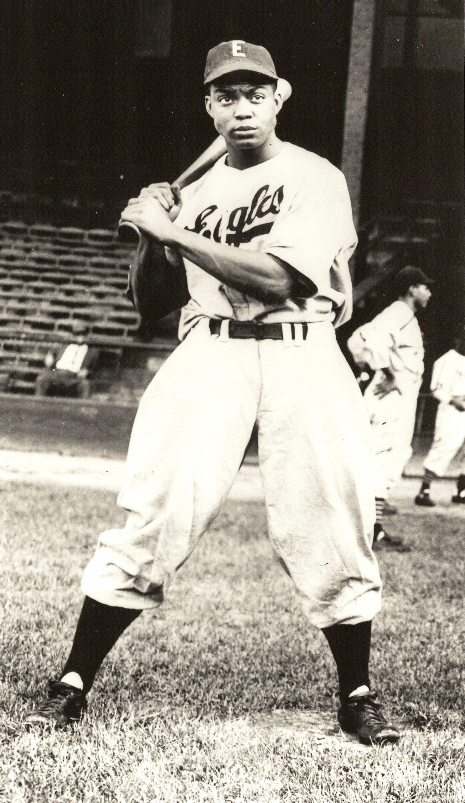 Monte Irvin with the Newark Eagles (NOIRTECH, INC.)