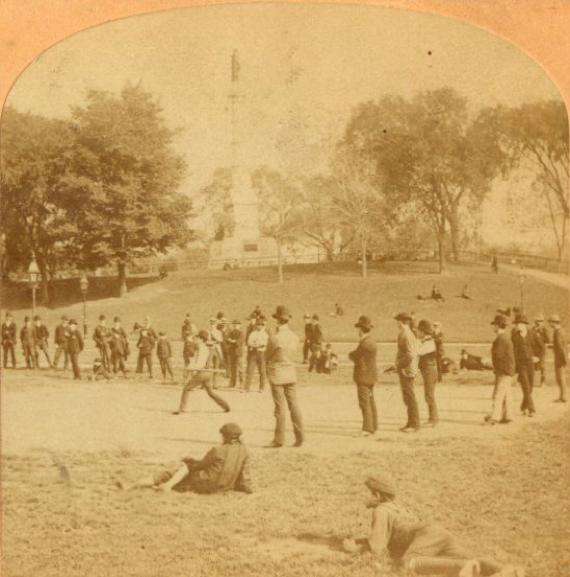 Boston Common baseball on the parade grounds (COURTESY OF JOANNE HULBERT)