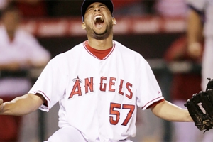 Francisco Rodriguez records his 58th save in 2008 (LOS ANGELES ANGELS)