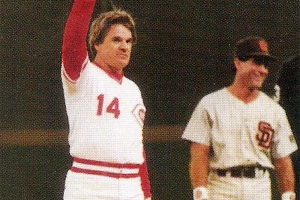 Pete Rose's 4,192th hit in 1985 (COURTESY OF MLB.COM)