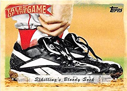 Curt Schilling's bloody sock, Game 6, 2004 ALCS (THE TOPPS COMPANY)