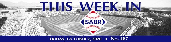 This Week in SABR: October 2, 2020