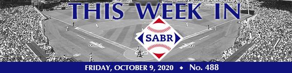 This Week in SABR: October 9, 2020