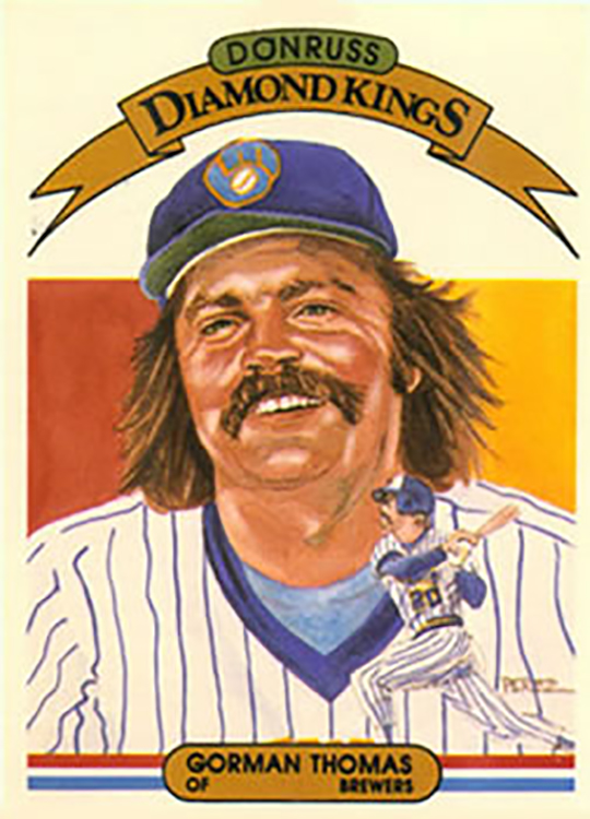 1982 Donruss Diamond Kings: Gorman Thomas