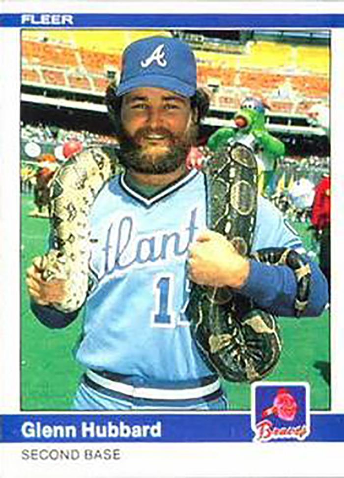 1984 Fleer: Glenn Hubbard