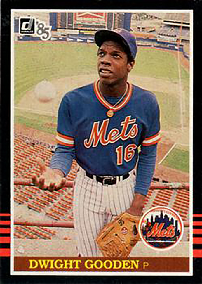 1985 Donruss Box Bottom: Dwight Gooden