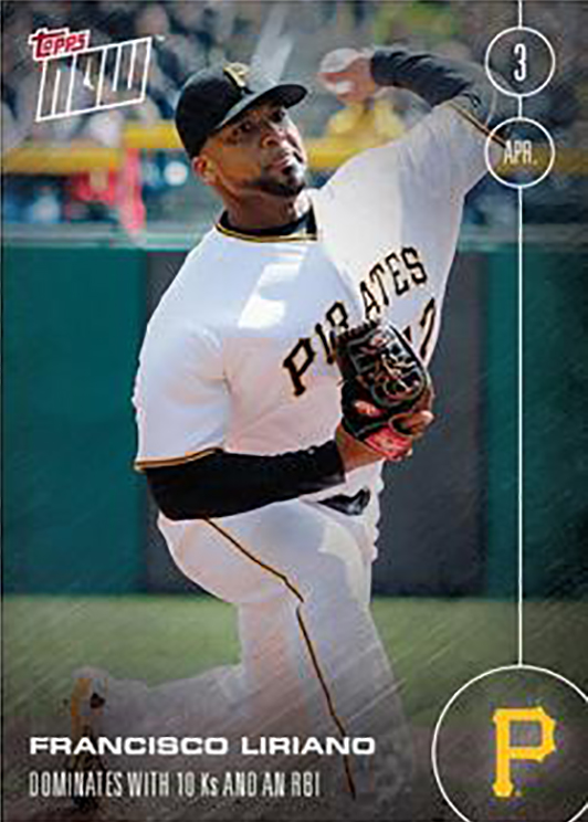 2016 Topps Now: Francisco Liriano