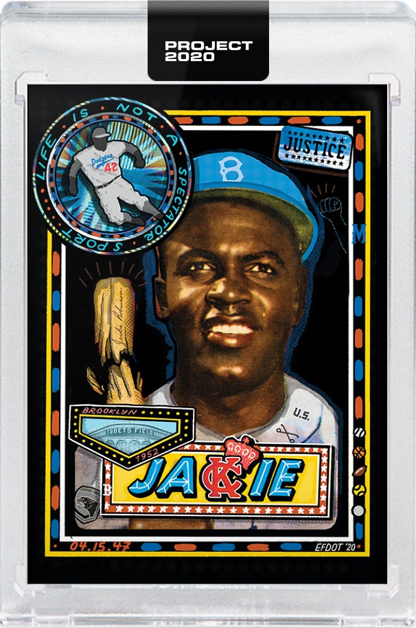 2020 Topps Project: Jackie Robinson by Efdot