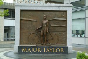 Major Taylor monument in Boston (JOANNE HULBERT)