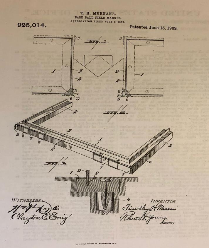 Tim Murnane batter's box patent
