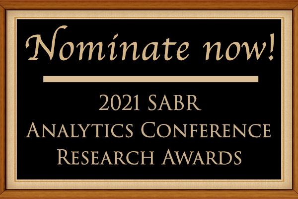 Seeking 2021 SABR Analytics Conference Research Award nominations