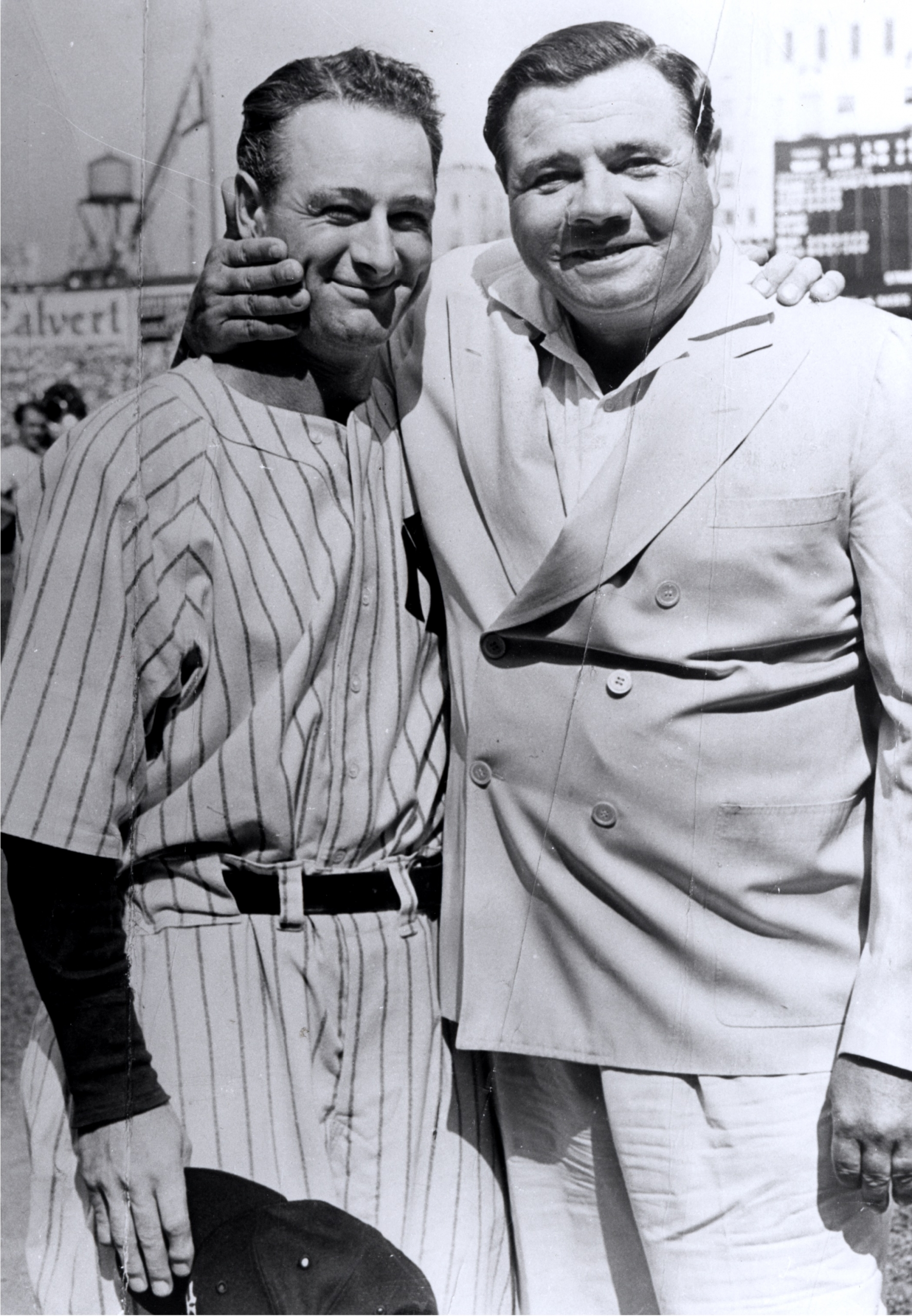 1939 Babe Ruth and Lou Gehrig Two of Yankees Greatest Players Enjoy a Personal Moment on Lou Gehrigs Day Archival 11x14 Photo