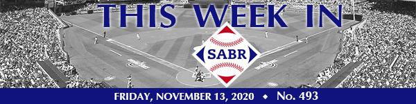 This Week in SABR: November 13, 2020