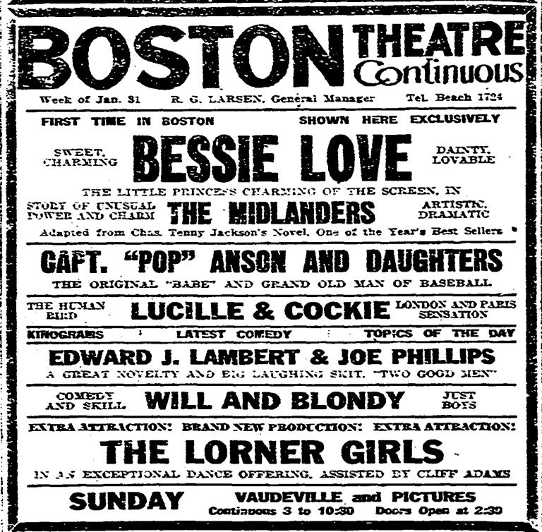 Boston Herald, January 30, 1921:32.