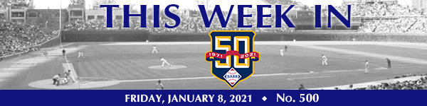 This Week in SABR: January 8, 2021
