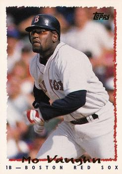 Mo Vaughn was named American League MVP in 1995 (TRADING CARD DB)