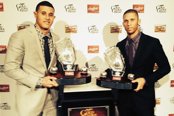 Manny Machado and Andrelton Simmons won the 2013 Rawlings Platinum Glove Awards, which used the SABR Defensive Index to help determine the winners. (RAWLINGS.COM)