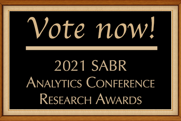 Vote now for 2021 SABR Analytics Conference Research Awards