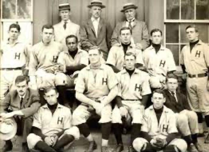1905 Harvard baseball team. William Matthews is in the middle row, third from left (HARVARD.EDU)