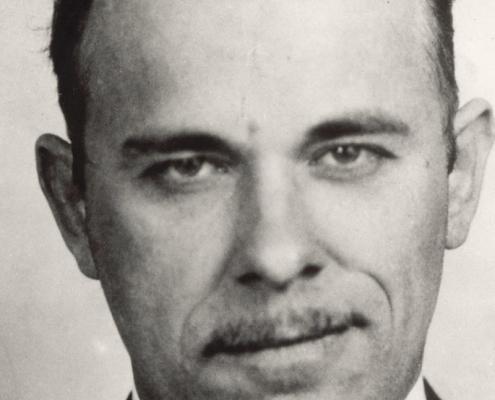 John Dillinger, 1934 mug shot (FBI.GOV)
