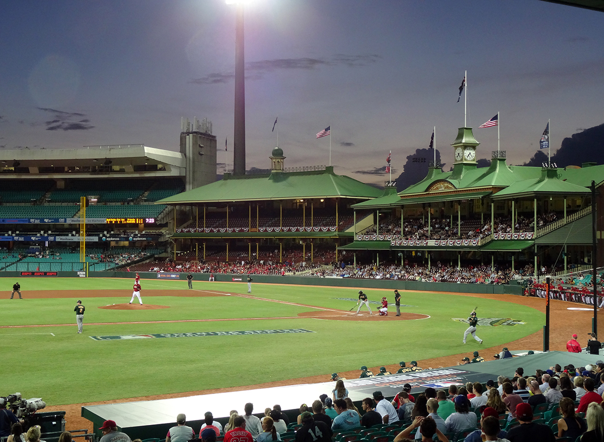 In 2014 major-league baseball returned to Australia and the Sydney Cricket Ground for the first time in 100 years with an exhibition game between Team Australia and the Arizona Diamondbacks on March 21, 2014 (ROBERT LAIDLAW)