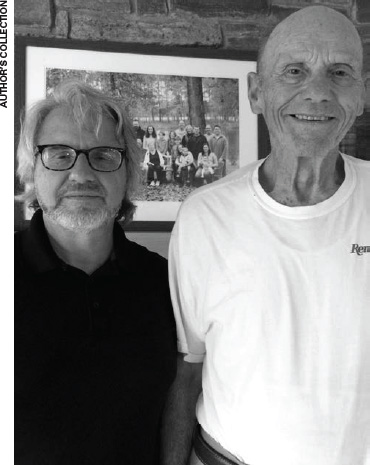 Dave Nicholson, right, and the author in September 2017. (AUTHOR'S COLLECTION)