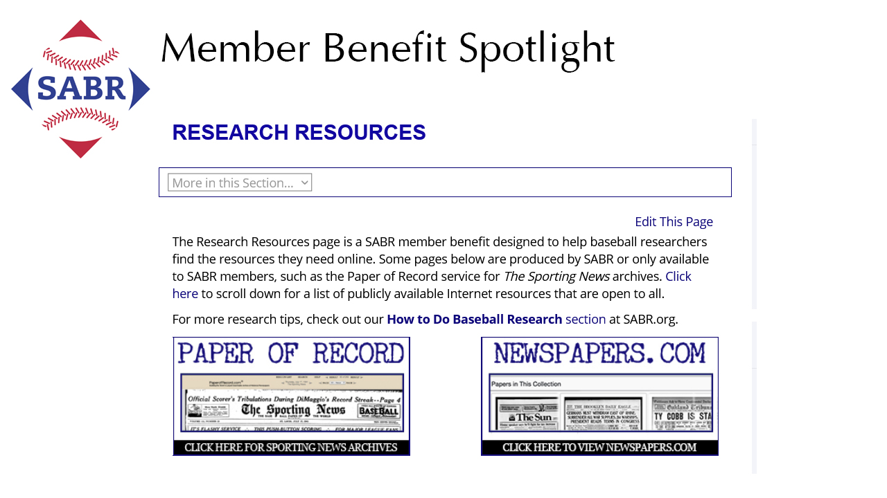 SABR Member Benefit Spotlight: Research Resources