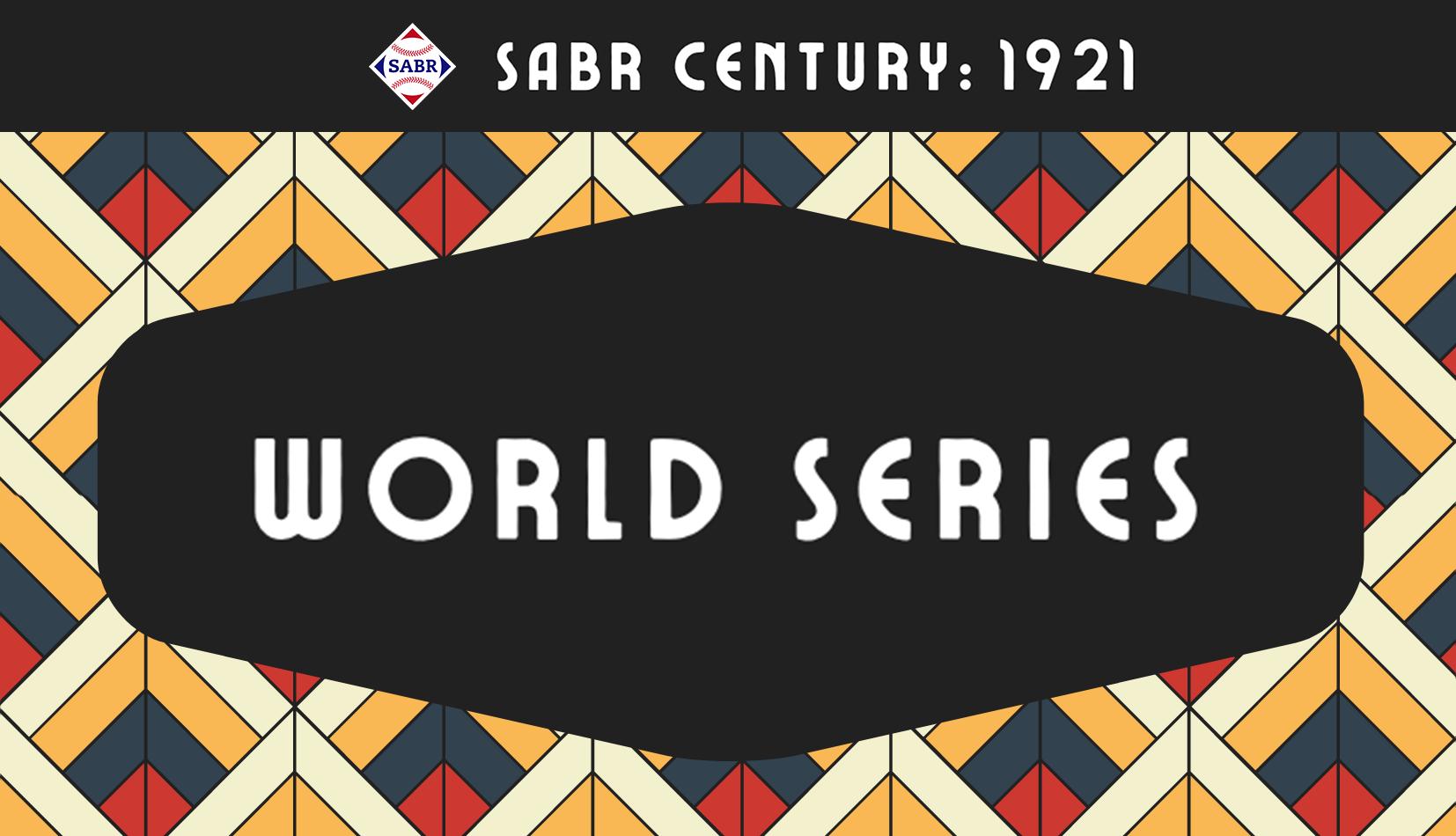 SABR Century: 1921 All-NYC World Series