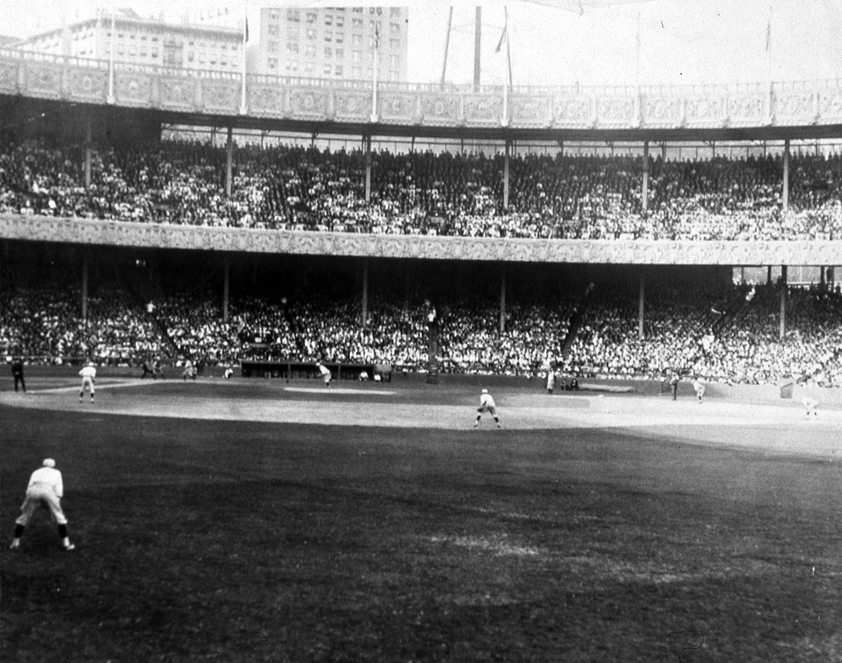 Action during the 1921 season at the Polo Grounds. (SABR-RUCKER ARCHIVE)