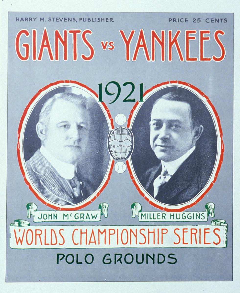 1921 World Series program cover (SABR-RUCKER ARCHIVE)