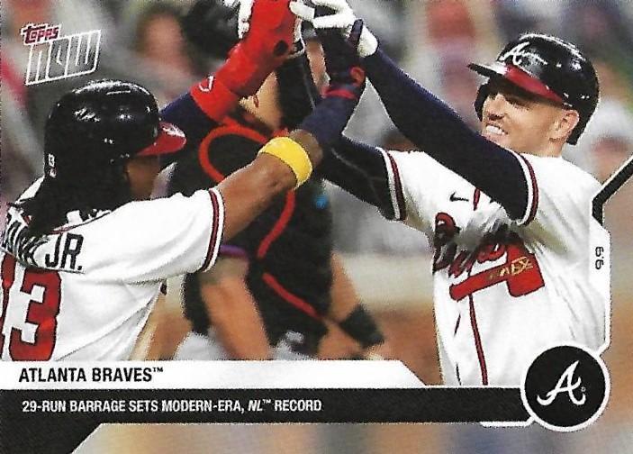 The Atlanta Braves scored a modern NL record 29 runs on September 9, 2020 (THE TOPPS COMPANY)