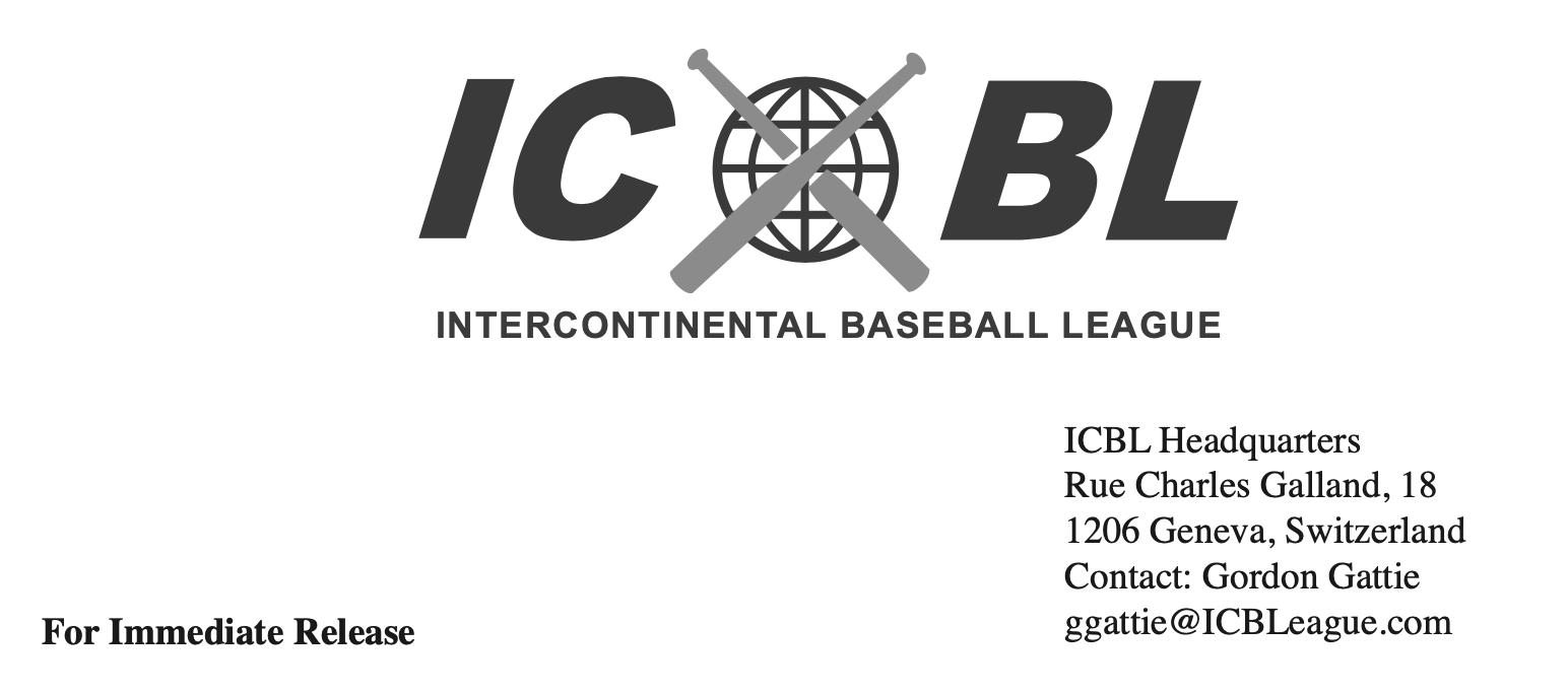 Intercontinental Baseball League Scheduled to Start League Play in 2039 (GORDON GATTIE)