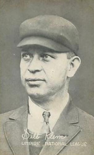 Elected to the Hall of Fame in 1953, Klem is credited with helping upgrade dignity and respect for umpiring during a major-league career that spanned 37 years (1905-1941). (TRADING CARD DB)