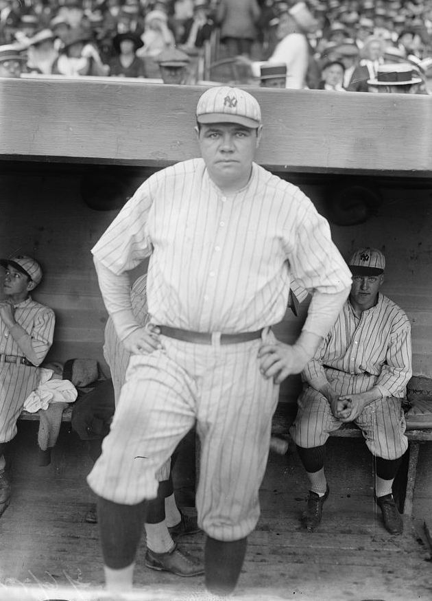 Babe Ruth in 1921 (LIBRARY OF CONGRESS)