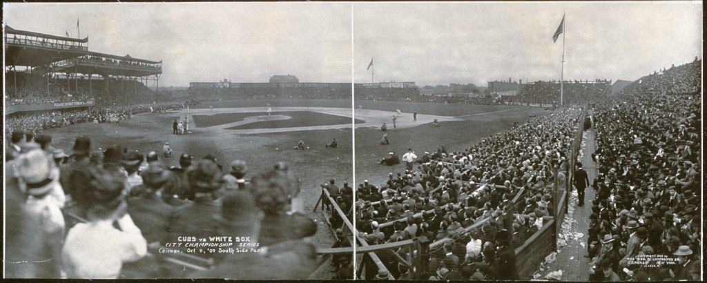 Schorling Park, seen in 1909 when it was known as South Side Park as home of the Chicago White Sox, played host to Chicago American Giants games between 1920 and 1931 (LIBRARY OF CONGRESS)