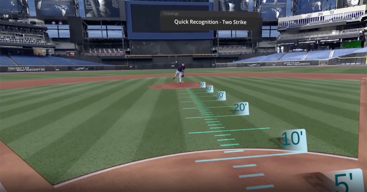 A WIN Reality training program challenges the player/batter to recognize and identify the pitch as early as possible. (WIN REALITY)