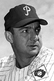 Del Wilber spent eight seasons in the big leagues with the Cardinals, Phillies, and Red Sox (AUTHOR'S COLLECTION)