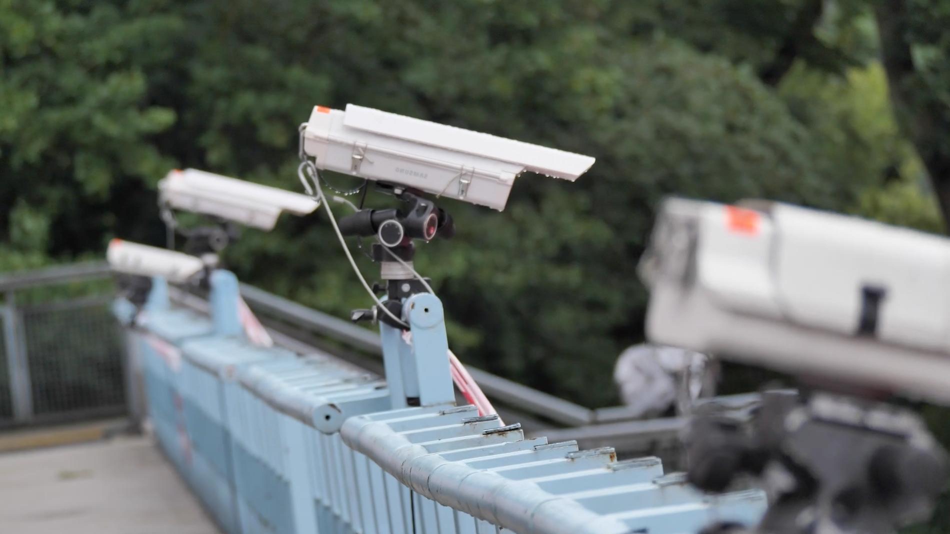 Hawk-Eye high speed cameras overlooking an athletic event in 2020 (HAWK-EYE INNOVATIONS)