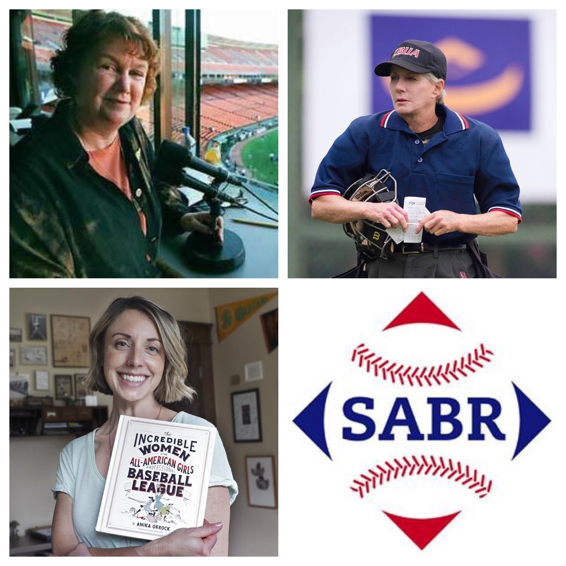 Sherry Davis, San Francisco Giants public address announcer from 1993 to 1999; Perry Barber, professional umpire; and Anika Orrock, author and illustrator.
