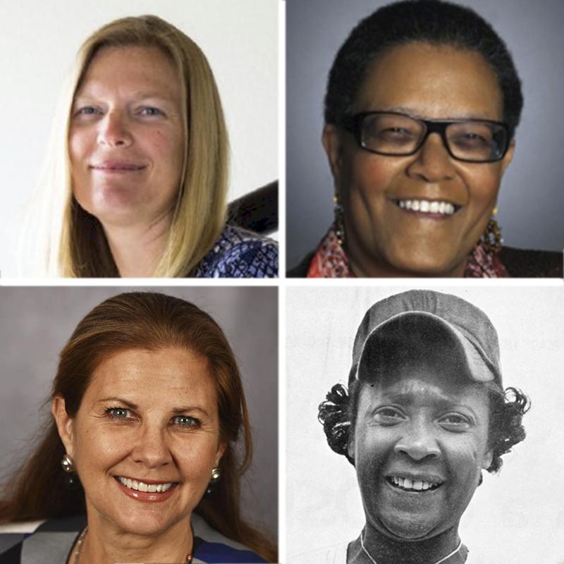 2021 Dorothy Seymour Mills Lifetime Achievement Award finalists: Justine Siegal, Claire Smith, Toni Stone, Janet Marie Smith