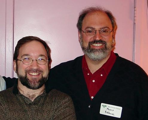Former SABR Executive Directors John Zajc and Morris Eckhouse, circa 2002
