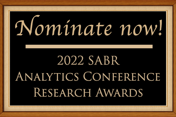 Nominate now for the 2022 SABR Analytics Conference Research Awards